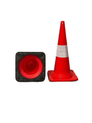 Heavy weight safety cones, screw based safety cone